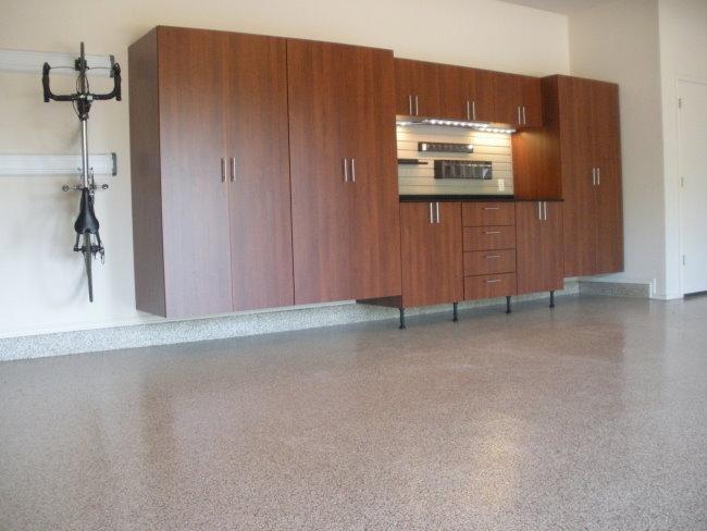 Terra Chip Epoxy Floors In The Garage Garage Innovations